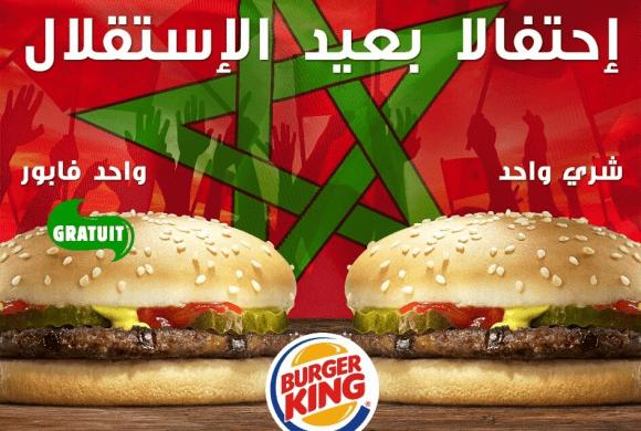 Burger King fête l'indépendance