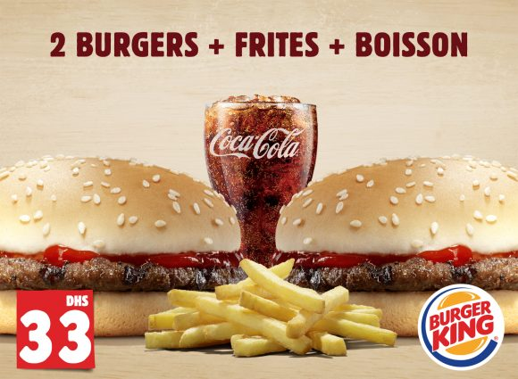 2 Burgers+ Frites +Boisson