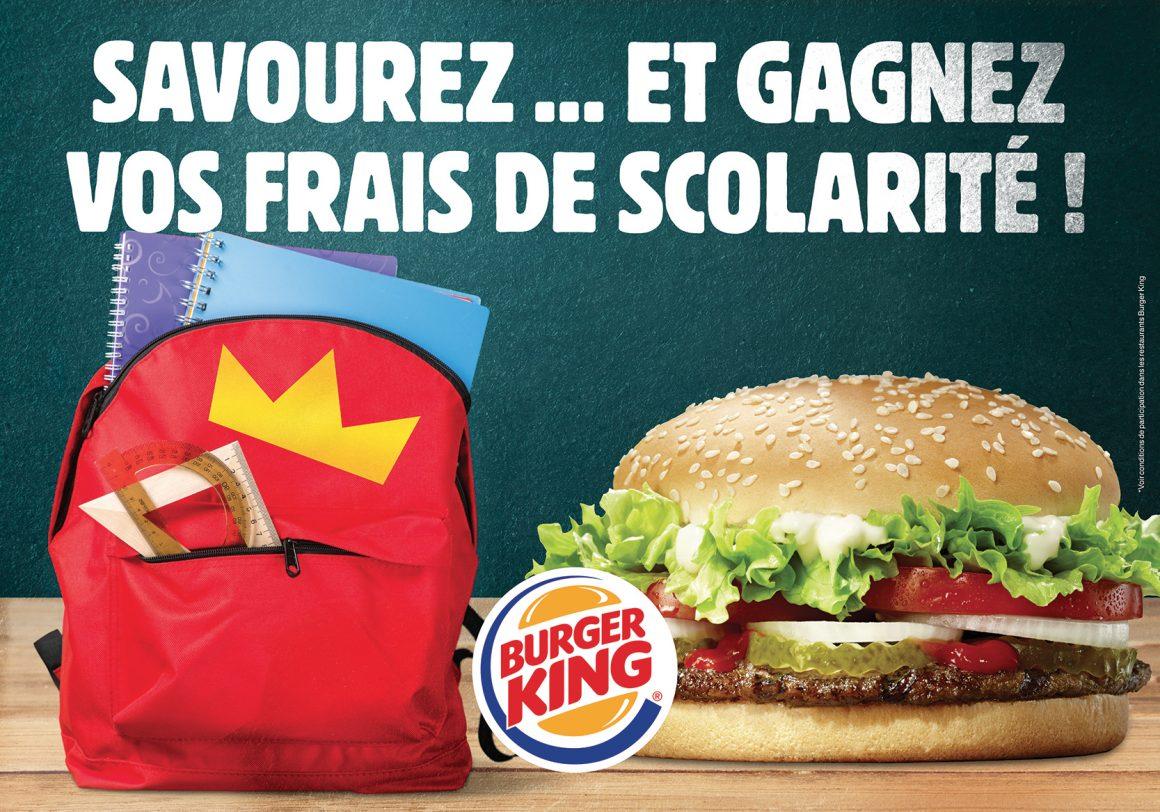 Gagnez vos frais de scolarité avec Burger King !