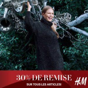 -30% sur tout les articles H&M