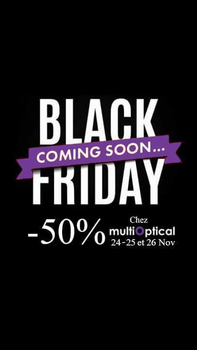 Black Friday chez MultiOptical
