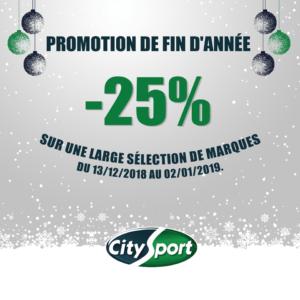 -25% chez CitySport !