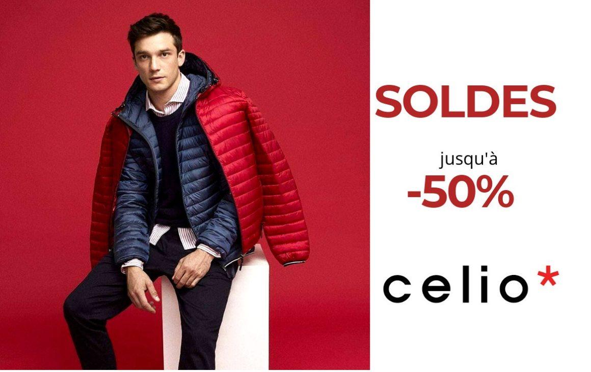 Jusqu'à -50% chez Celio !