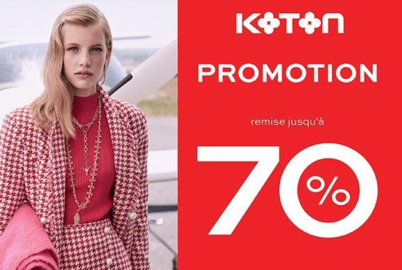 Jusqu'à -70% chez KOTON !