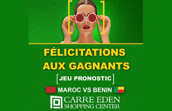 Félicitation aux gagnants du jeu Pronostics Maroc vs BENIN