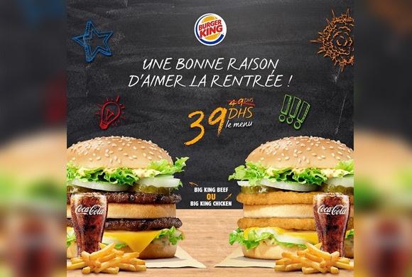 Avec Burger King, la rentrée n'a jamais été aussi attendue !!
