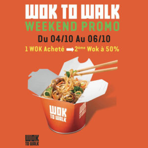 Un week-end de promotion chez Wok to Walk