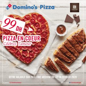 Vivez la Saint Valentin avec Dominos Pizza