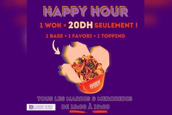 l'Happy Hour chez wok to walk