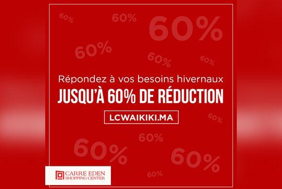 Jusqu'à 60% de réduction chez LC Waikiki