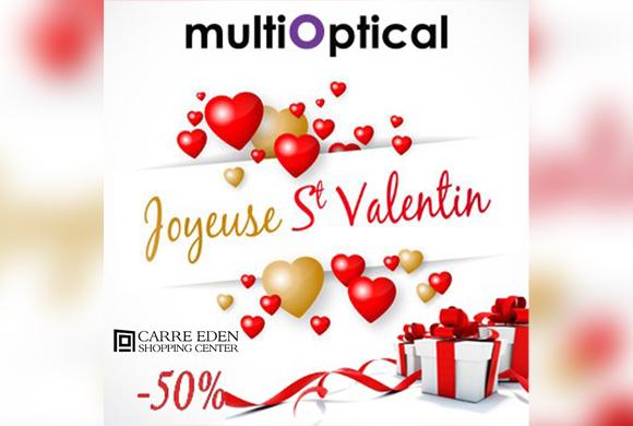 Multioptical vous souhaite une joyeuse saint valentin