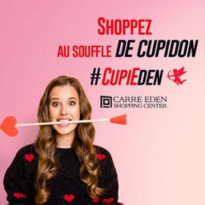 Cupidon pose son arc au Carré Eden Shopping Center