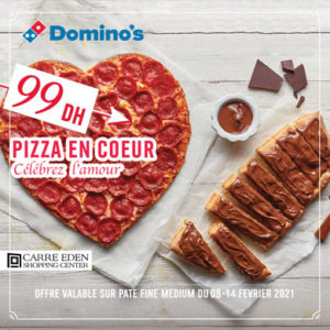 Pizza en forme de cœur chez Domino's