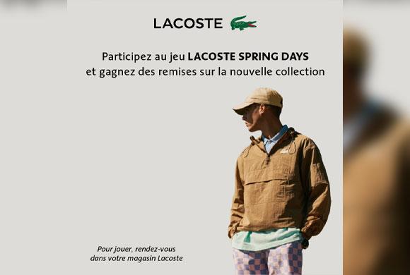 Tentez votre chance de gagner des remises sur la nouvelle collection Lacoste
