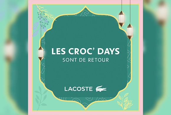Craquez pour  les crocs-days de chez Lacoste
