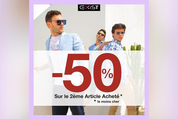 -50%surle2èmechez EXIST